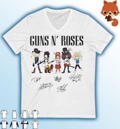 Guns Roses signatures 2021 shirt