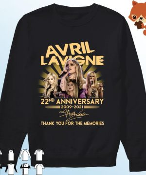 Avril Lavigne 22nd Anniversary 2009 2021 Signatures Thank You For The Memories Shirt Sweater
