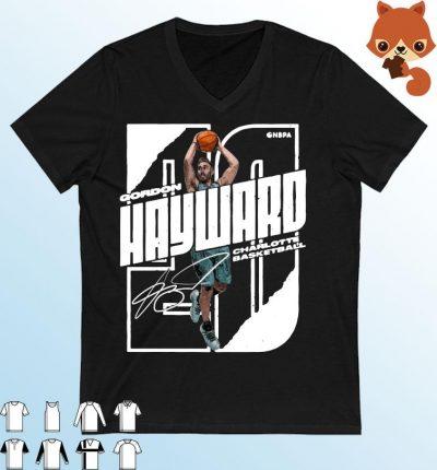 Boston Basketball Gordon Hayward Stretch Wht Shirt