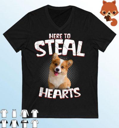 Corgi Here To Steal Hearts Shirt