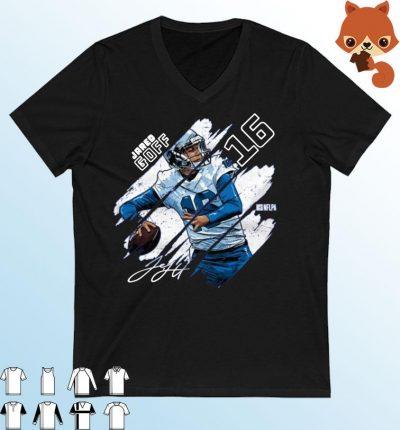Detroit Football Jared Goff Stripes Shirt