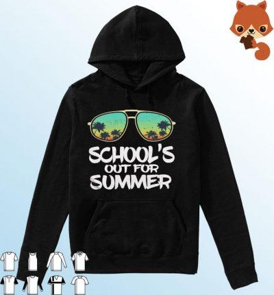 Sunglasses Beach Sunset School's Out For Summer Shirt Hoodie